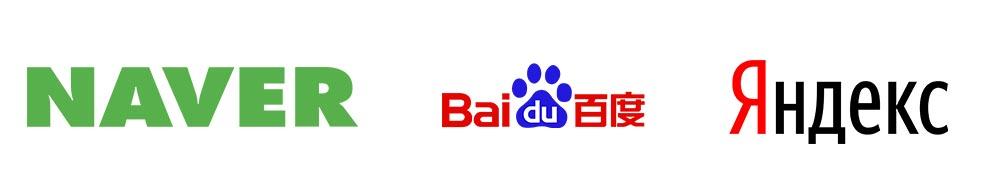 NAVER Baidu YANDEX RU