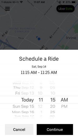 配車時間も設定可能