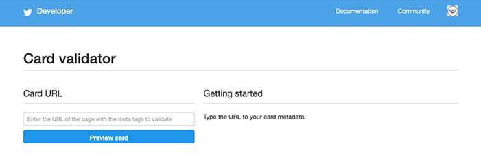 【Card Validator】Twitterカードを表示させるツール