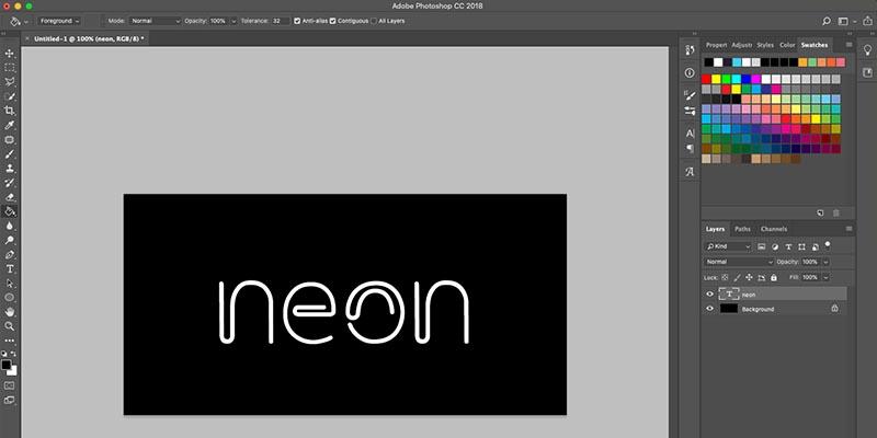②:文字を白色に(背景はわかりやすく黒にします)