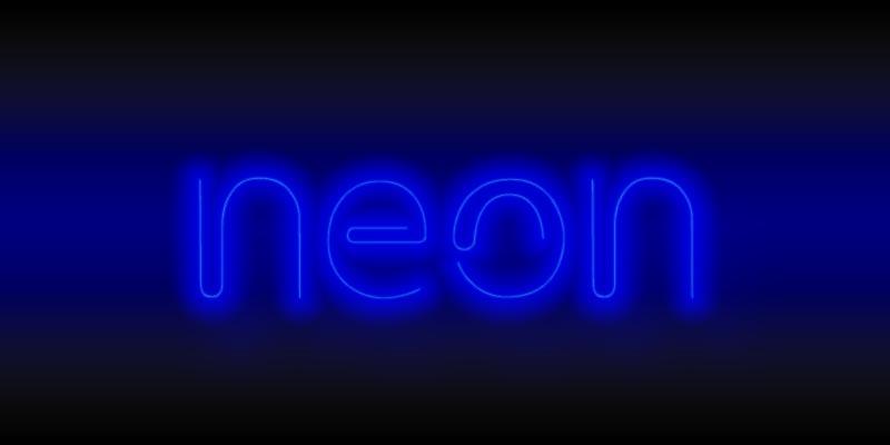 ネオン文字デザイン完成:仕上がりを見てみよう