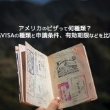 【アメリカのビザって何種類?】非移民VISAの種類と申請条件、有効期限などを比較解説
