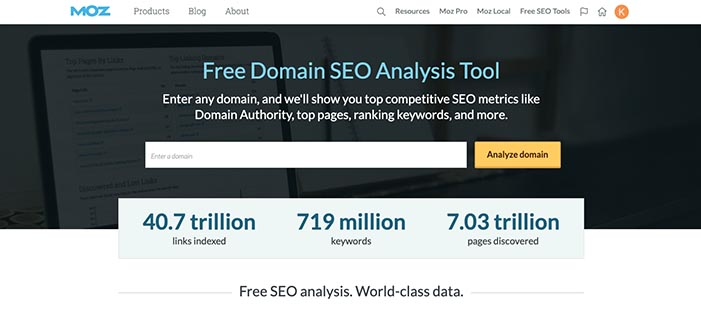 MOZ:Free Domain SEO Analysis Tool