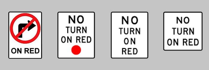 赤で右折禁止の場合もあります
