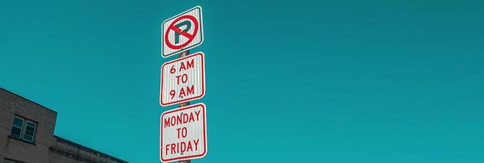 路上駐車したいときは標識に注意