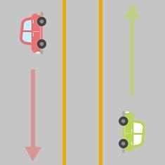 1. 対向車を横切って左折したいとき 1