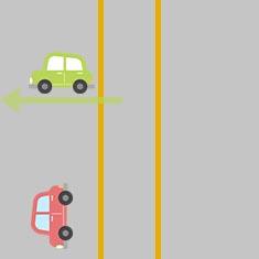 1. 対向車を横切って左折したいとき 3