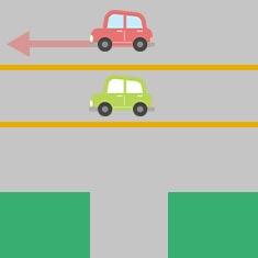 2. 側道から大きな道に左折するとき 2