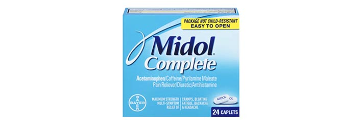 Midol:以前のパッケージ