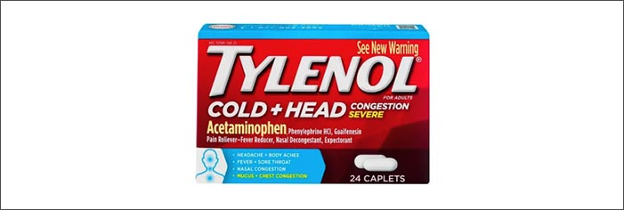 Tylenol Cold + head Congestion Severe(タイレノール コールド)