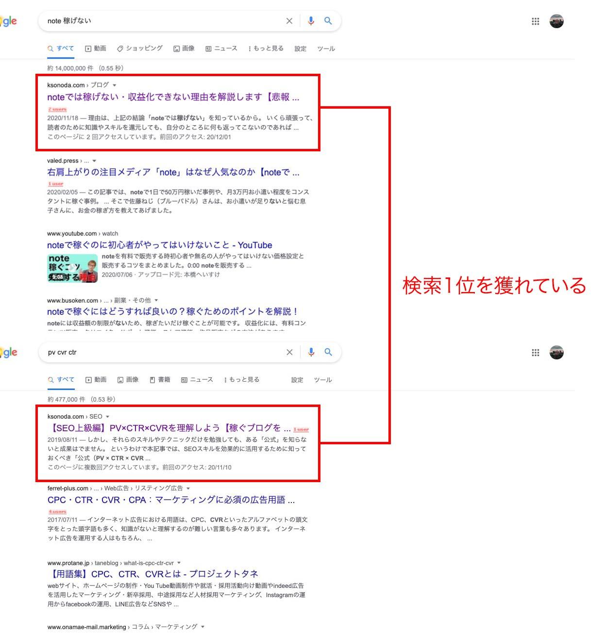 【実績】SEOキーワードを意識すると検索上位が取れる