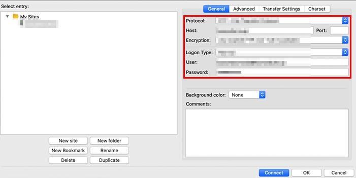 1. FTPクライアントでサーバーにアクセス
