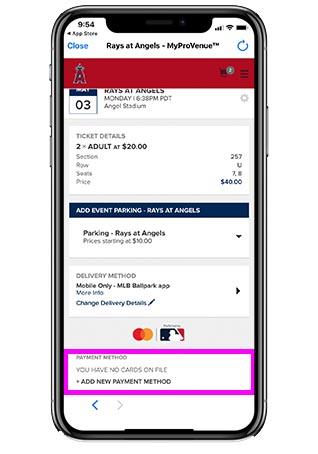 エンゼルス観戦チケットの買い方手順_②チケットを買う - 10.カートに移動、クレカ情報を入力