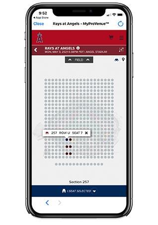 エンゼルス観戦チケットの買い方手順_②チケットを買う - 8.座席を選択